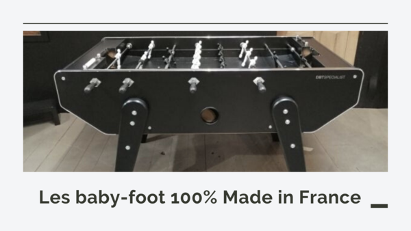 Baby-foot en stock Debuchy by Toulet. Baby-foot made in France.