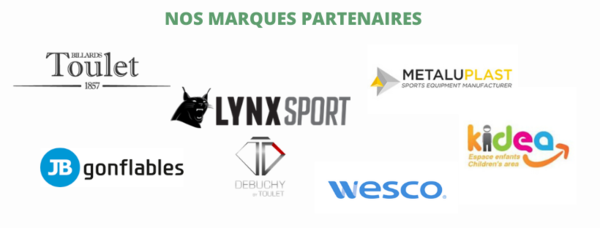 Lynxpsort, wesco, metaluplast, kidea, toulet, debuchy by toulet, jb gonflables, marques occitanie sports loisirs, fournisseurs. occitanie sports loisirs, fabricant occitanie sports loisirs, fabricants de matériel de sport, fabricant de jeux. toulet, debuchy, jb gonflable, lynxport, wesco, metaluplast, dimakids, kidea