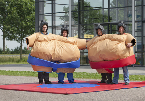 Costumes sumo adultes jumeaux